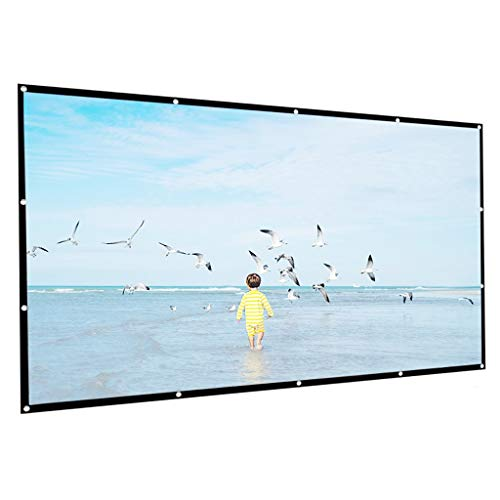 XJJZS Pantalla de proyector de Alta Densidad 4: 3 100/120/150 Pulgadas 1080P 3D 4K HD Pantalla de películas de proyección Plegable portátil (Size : 120 Inch)
