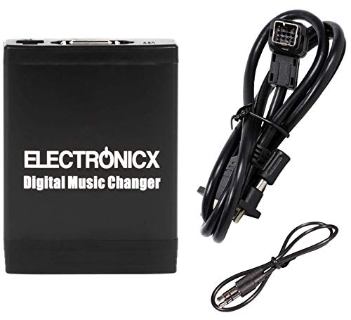 Electronicx Elec-M06-CLAR Adaptador de Musica para Coche USB SD AUX Cambiador de...