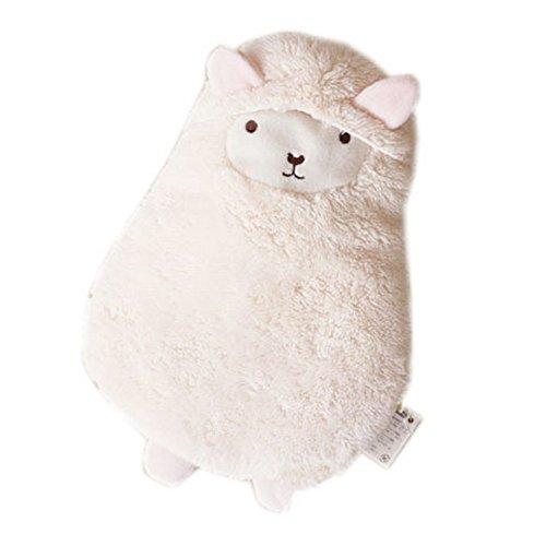 Niedliches Tier Weiß Alpaka Wärmflasche 600ML