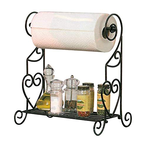 Metal Wire Storage Rack with Paper Towel Holder
