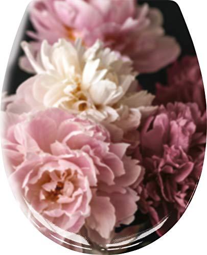 Kleine Wolke Textilgesellschaft WC-Sitz Rosemarie Bordeaux Maße ca. 37 x 45 cm, 37x45 cm