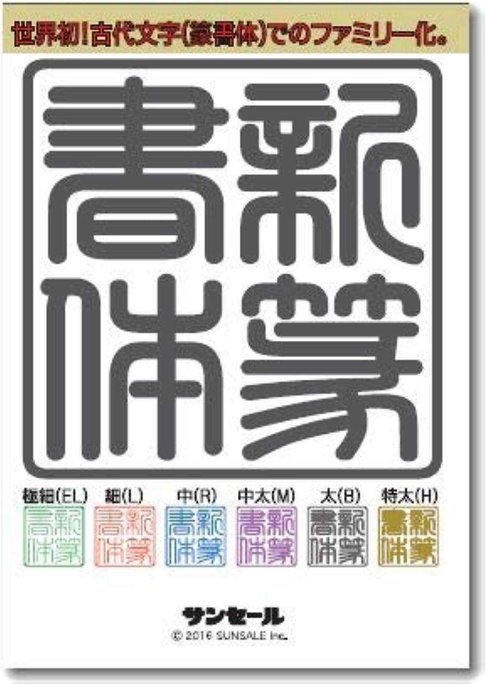 密接に伝染病ポンド新篆書体ファミリー(6書体) 極細(EL)?細(L)?中(R)?中太(M)?太(B)?特太(H) | PC/Mac