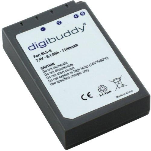 digibuddy Batería para Olympus BLS-50 (Ion de Litio), Color Negro