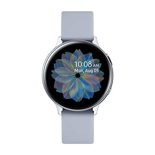 Samsung Galaxy Watch Active2 Smartwatch Bluetooth 44 mm in Alluminio e Cinturino Sport, con GPS, Sensore di Frequenza Cardiaca, Tracker Allenamento, IP68, Alluminio Argento, Versione Italiana