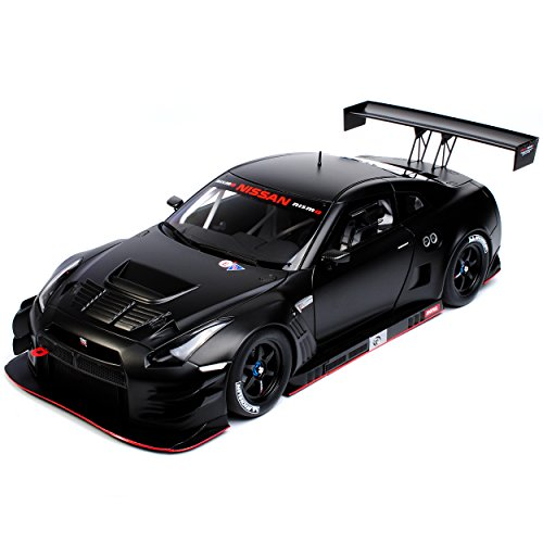 AUTOart Nissan Skyline R35 GT-R Nismo GT3 Matt Schwarz 81580 1/18 Modell Auto mit individiuellem Wunschkennzeichen
