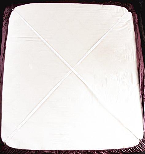 2er Verstellbarer Kreuz Und Quer Bettlaken Spanner Betttuchspanner Spannbettlakenhalter, weiß B