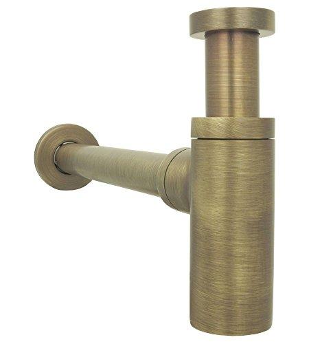 Flaschensiphon Waschbecken felxibel Geruchsverschluss Siphon aus Messing im Landhaus Design