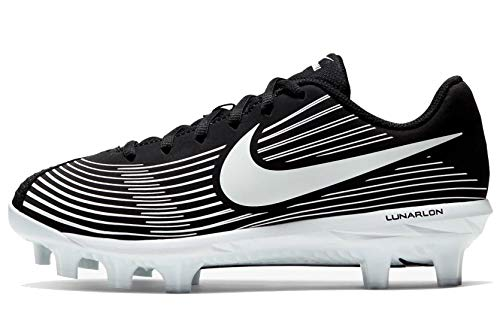Nike Lunar Hyperdiamond 3 Varsity MCS Womens Softball Cleat Womens Ao7918-002 Size 7.5 Black/White