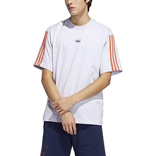 adidas Go-to Performance - Camiseta para hombre (talla pequeña, gris claro y negro brezo)