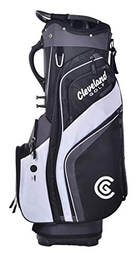 Cleveland Golf Cart Bag, Black/Charcoal/Wh