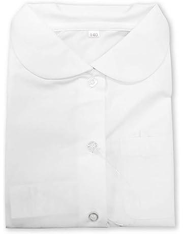 c9437a426db35 ASHBERRY (アッシュベリー) 形態安定・丸えり半袖ブラウス カッターシャツ
