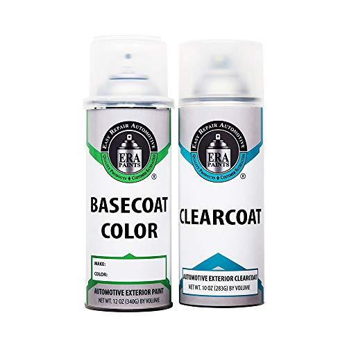 ERA Paints Pick Your Color Automotive Touch Up Paint Kit for Dodge (KAR/PAR Maximum Steel Metallic) Automotive Spray (Basecoat) Paint and Clearcoat
