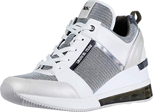 MICHAEL Michael Kors Georgie Extreme Sneakers Dames Wit/Zilver - 41 - Lage Sneakers Shoes