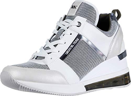 Michael MICHAEL KORS Georgie Extreme Sneaker Damen Weiss/Silbern - 40 - Sneaker Low