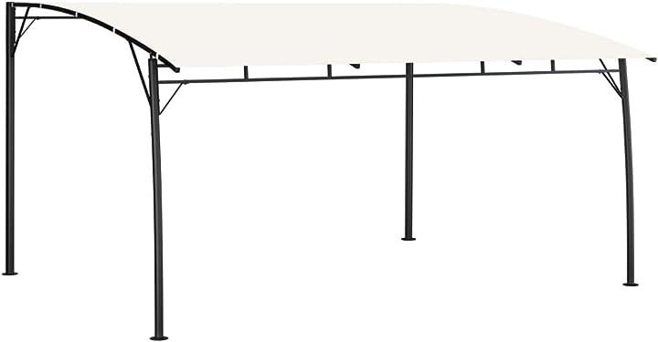 Tenda parasole da giardino crema/antracite,gazebo pergolato da giardino per esterno tidyard XFO6298423867179JN