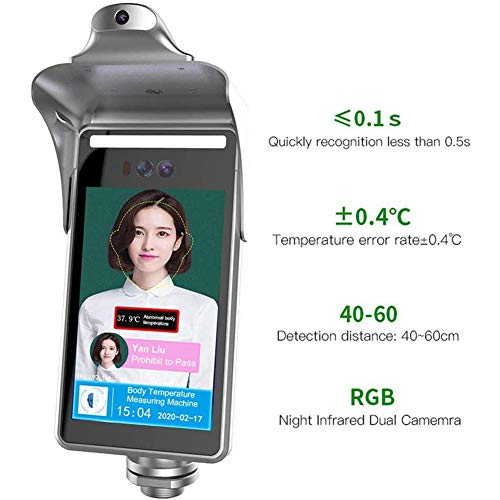 XLNB lichaamstemperatuur detectie gezichtsherkenning machine met dynamische gezichtsherkenning thermische beeldvorming voor winkelcentra, supermarkten, openbare plaatsen Voice Alarm voor abnormale