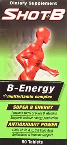 Shot B Energy Multivitamin Supplement, 60 Count