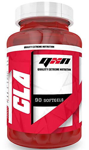 QXN New CLA 90 Cápsulas Softgels | Suplemento Quemagrasas con Ácido Linoleico Conjugado, Favorece Crecimiento Masa Muscular, Efecto Antioxidante, Reduce Colesterol