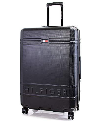 Tommy Hilfiger Lexington Hardside Spinner Luggage with TSA Lock, Black, 28 Inch