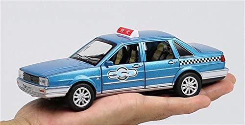 GEBAN Vehículo a Escala 1:32 para el Modelo de Auto de aleación de aleaciones de Taxi de Sonata, Modelo de torneado de fundición a presión, Regalo estético (Color : Blue)