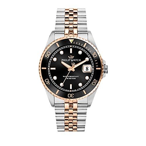 Philip Watch Philip Watch Reloj para Hombre, Colección Caribe, Swiss Made, de Acero, PVD Oro Rosa - R8253597064