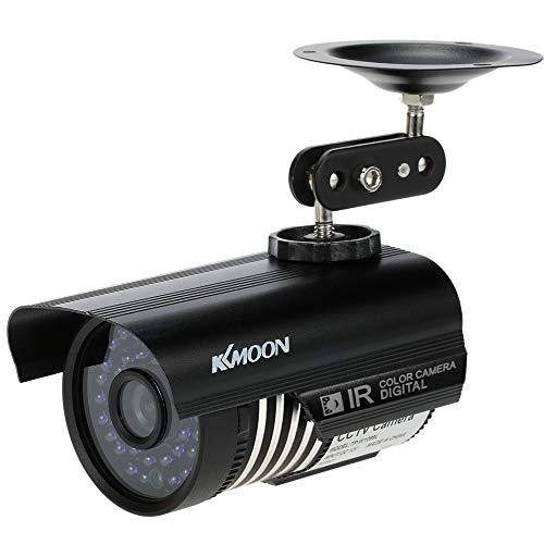 KKmoon 1200TVL Cámara Bala de Vigilancia CCTV Analógico 36 LED IR-Cut Visión Nocturna Impermeable IP66 Seguridad Exterior Hogar Oficina