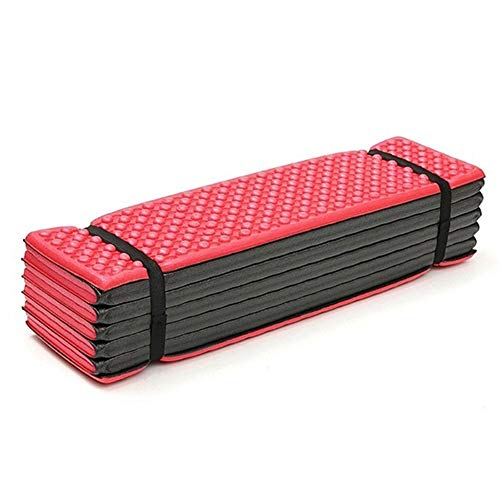 Manta de Picnic Campo de Plegado óvulo Cama Carpa Espuma al Aire Libre Colchoneta Asiento Ultraligero mochilero Senderismo Dormir Impermeable 188x57cm Pad (Color : Red)