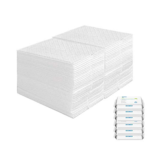 BOOMJOY Mopa desechable (150 toallitas), ideal contra el polvo, el pelo de animales y los alérgenos