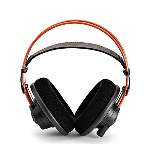 Auriculares con cable para juegos Auriculares para PC de 3.5 mm, monitor profesional montado en la cabeza Estéreo envolvente de alta fidelidad Silencio y control de volumen, presión de oreja cero y