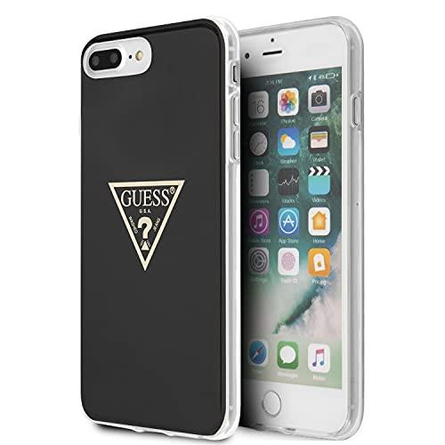 Guess - Carcasa rígida para iPhone 8 Plus/iPhone 7 Plus, color negro