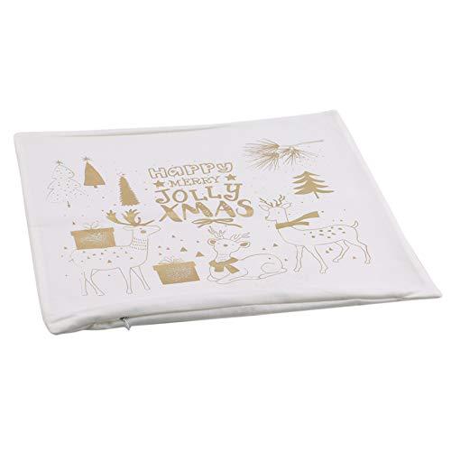 unknow sanmeiyang Weihnachtsmuster Kissenbezug, Goldstempeldruck Sofa Couch Dekoration,Stil 5