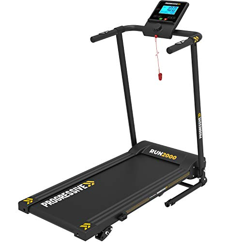 RUN2000 Self-Lubricating Electric Folding Treadmill for Home...