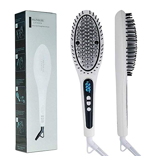 Hair Straightening Brush for All Kinds of Hair, Iron Ceramic Electric...