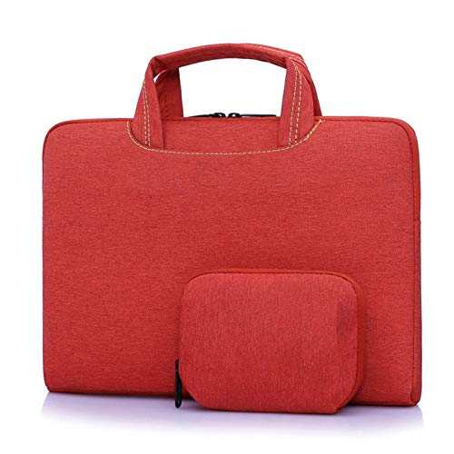 RZL PAD & TAB cases For Macbook Air Pro, Women Handbag Sleeve Briefcase Bag Men Notebook Tablet Portable Laptop Bags For Macbook Air Pro 11 12 13 14 15 13.3 15.6 Inch (Color : Red, Size : 15 inch)