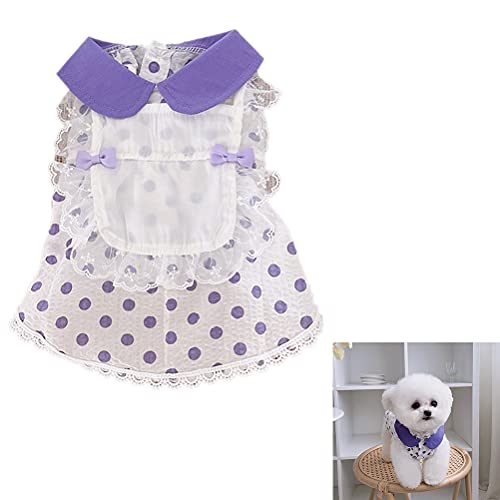 cheap4uk 1 Pieza Vestido de Lunares para Gatos y Mascotas XXS, XS, S, M, L, XL, XXL, XXXL Ropa Fina de Verano para Perros para Perros Pequeños Chihuahua Gatitos