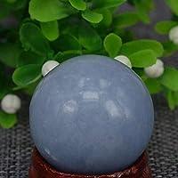凝視占いまたは風水ボール 29mm天然石宝石石ブルー天使館球クリスタルグローブボールチャクラヒーリングレイキストーン彫刻工芸品、ミネラル 水晶球