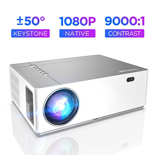 Beamer 7200 Lumen Full HD Native 1080p BOMAKER LED Videoprojektor 300 inch Display Zoom ±50°Elektronische Korrektur Dolby unterstützt mit Dual HDMI USB Anschlüsse für Heimkino&Geschäftspräsentation