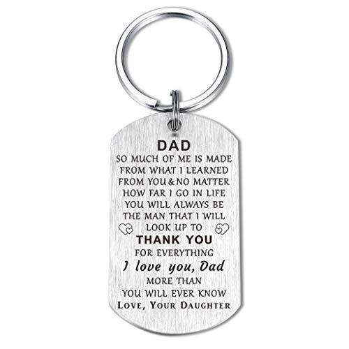 Mom Dad Keychain Gifts from Son Daughter I Love You Alway, Thank You Birthday Christmas Wedding Anniversary Thanksgiving