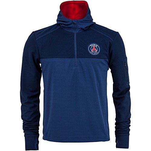 Trainings-Sweatshirt PSG, mit Reißverschluss, Erwachsenengröße, für Herren, offizielle Kollektion Paris Saint Germain XX-Large blau