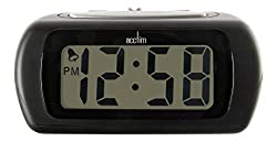 Large digit LCD display Super-brite blue backlight Crescendo alarm with snooze Stylish design Dimensions 52 x 105 x 75mm.Requires 2 x AA battery (not included)