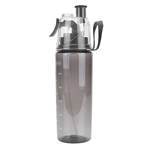 【𝐅𝐫𝐮𝐡𝐥𝐢𝐧𝐠 𝐕𝐞𝐫𝐤𝐚𝐮𝐟 𝐆𝐞𝐬𝐜𝐡𝐞𝐧𝐤】 600 ml tragbare Plastikwasserflasche, klare, l?ssige Anti Leck Flasche mit SPR¨¹hkopf für die Sportschule zum Radfahren(Schwarz)
