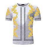 Mr.BaoLong&Miss.GO Nueva Camiseta para Hombre, Camiseta para Hombre, Nueva Camiseta Hawaiana Fina, De Manga...