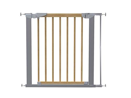Baby Dan 53217-5791-02-85 Avantgarde - Rejilla de seguridad para puertas y escaleras, 71,3-84,4 cm, color plateado