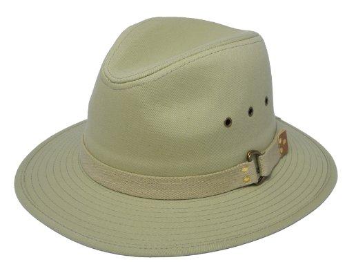 Chapeau de soleil pour homme en coton léger - Forme fixe - Taille M - 58 cm