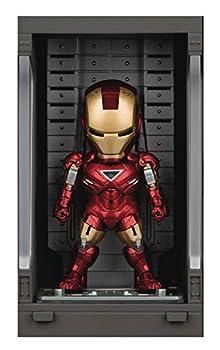Beast Kingdom Iron Man 3  Iron Man Mk VI with Hall of Armor Mea-015 Mini Egg Attack Figure Multicolor
