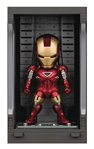 Figura Hall of Armor Iron Man Mark Vi 8 cm. Iron Man 3. Beast Kingdom Toys. Mini Egg Attack. con luz