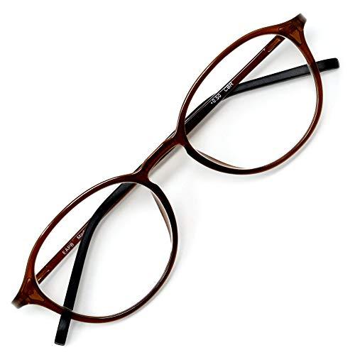 アイウェアエア 老眼鏡 おしゃれ レディース メンズ ブルーライトカット 35% +0.5〜+3.5 4色 ボストン ショコラブラウン +1.00