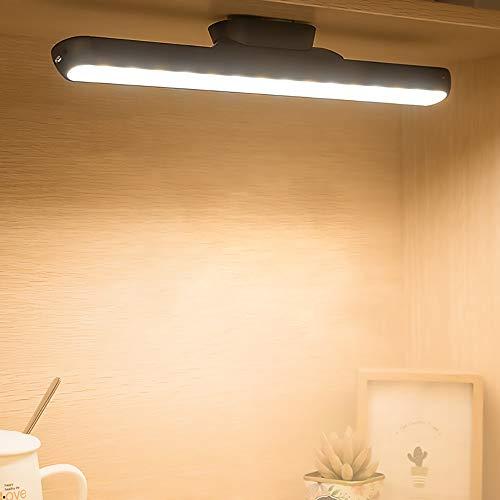 Belief Rebirth LED kleine Tischlampe USB-Ladeaugen Bedside Lese Streifen-Licht - Adsorption Installation Wandleuchte/Deckenleuchte - 5V 1A Dimming, Einstellbare Nachtlicht