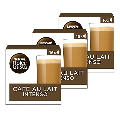 Nescafé Dolce Gusto capsules Café Au Lait Intenso – 48 koffiecups – geschikt voor 48 koppen koffie – Dolce Gusto cups