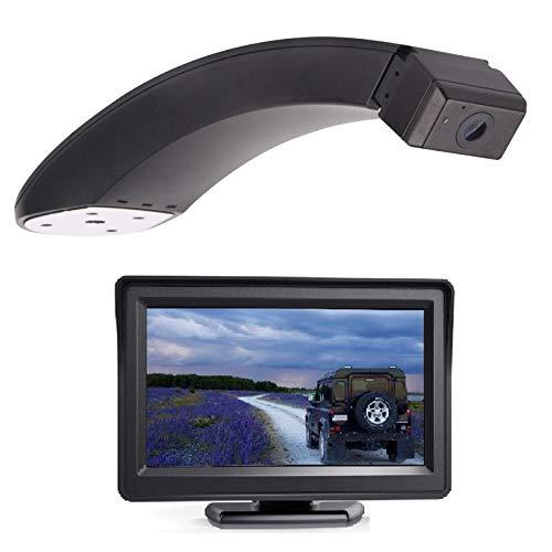 HD 720p Telecamera per la retromarcia Telecamera posteriore integrato nella terza luce freno + MONITOR 5.0 POLLICI COLORI TELECAMERA Retrocamera per FOR D Transit Connect 2014 – 2017 (Two doors)